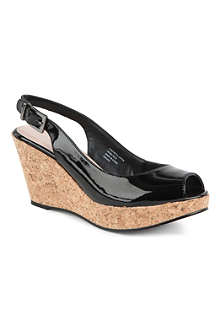 CARVELA Kex patent wedge sandals