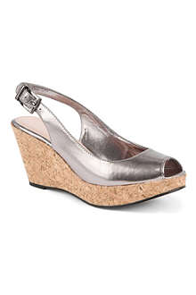 CARVELA Kex metallic wedge sandals