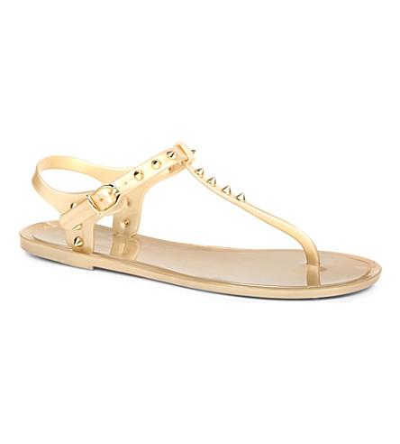KG KURT GEIGER Move studded sandals (Gold