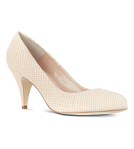 CARVELA Adam snakeskin-look court shoes (Cream