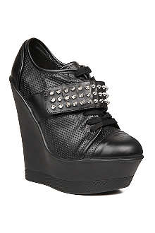 KG BY KURT GEIGER Electric studded wedge trainers