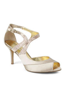 NINE WEST Glamsgal2 satin sandals