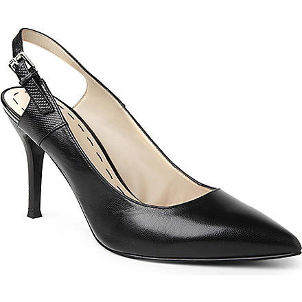 NINE WEST Foe leather slingback courts (Black