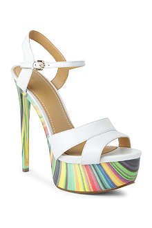 NINE WEST Mercade leather platform sandals