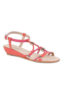 CARVELA Kluster leather wedge sandals