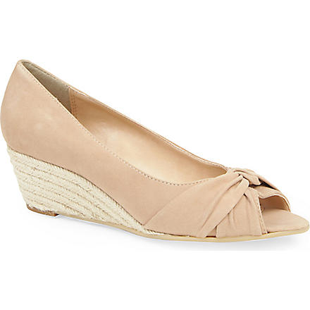 CARVELA Komet suede wedge sandals (Nude
