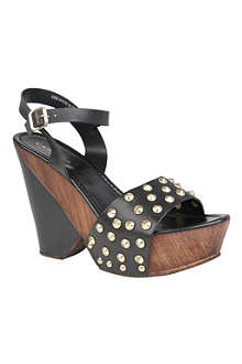 CARVELA Krimpy leather wedge sandals