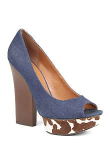 NINE WEST Hairy7 canvas courts