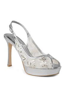 NINE WEST Hellsfire2 sequinned slingback sandals