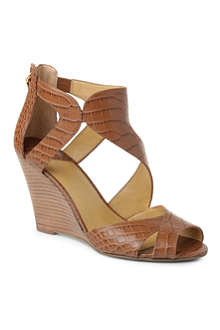 NINE WEST MissFitz leather wedge sandals