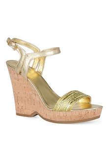 NINE WEST Trickster metallic wedges