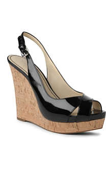 NINE WEST Laffnplay patent wedges
