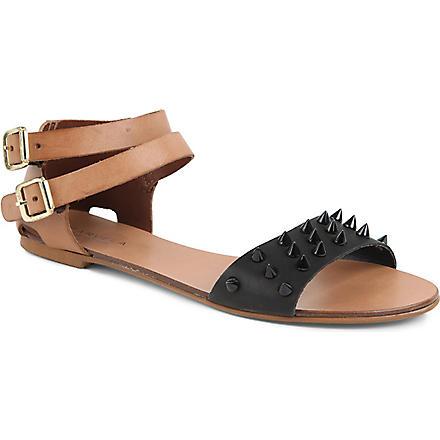 CARVELA Kaskade leather sandals (Black