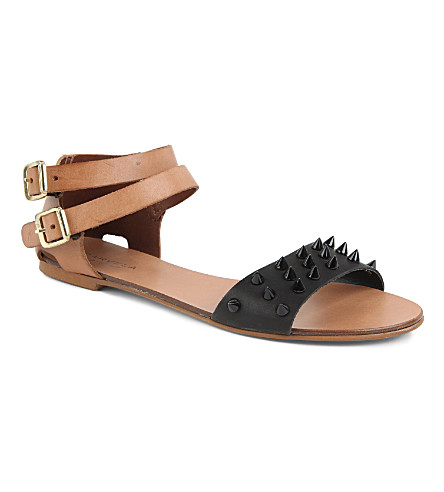 CARVELA Kaskade leather sandals (Black