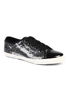 KG BY KURT GEIGER Lucca sequinned trainers