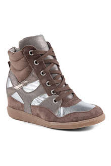 KG BY KURT GEIGER Lazer high-top wedge trainers