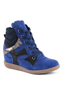 KG BY KURT GEIGER Lazer suede wedge trainers