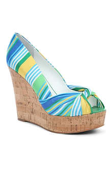 NINE WEST Chillpill2 cork peep toe wedges