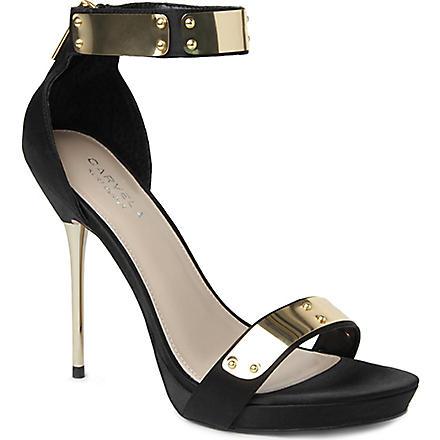 CARVELA Glide leather sandals (Black