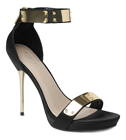 CARVELA Glide leather sandals (Black