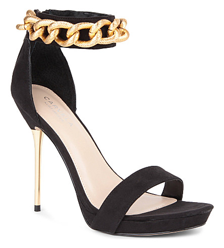 CARVELA Glib suede sandals (Black