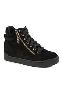 CARVELA Lap suede high-top trainers