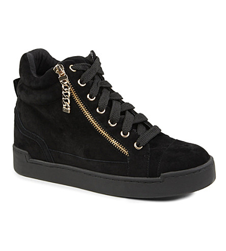 CARVELA Lap suede high-top trainers (Black