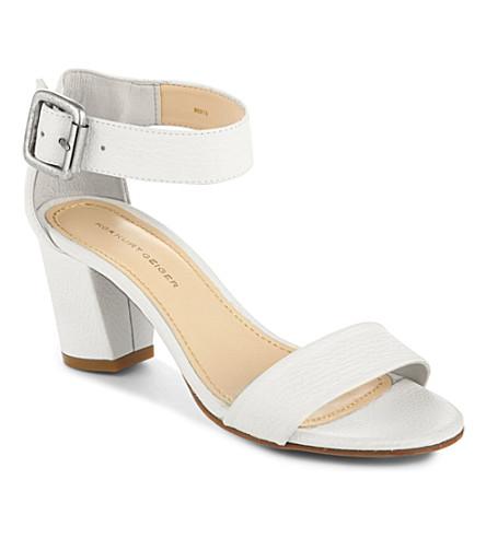KG KURT GEIGER Nina leather sandals (White