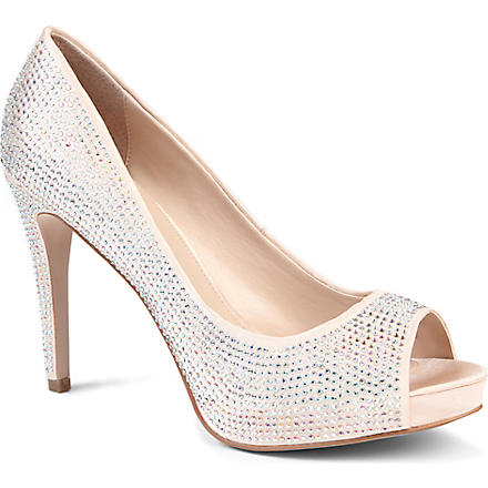 CARVELA Grind diamanté-embellished courts (Cream