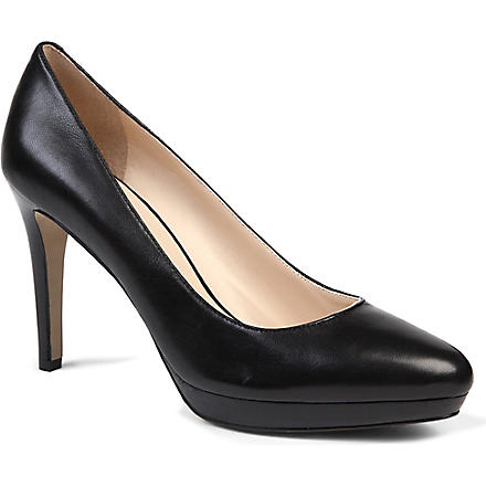 NINE WEST Beautie leather courts (Black