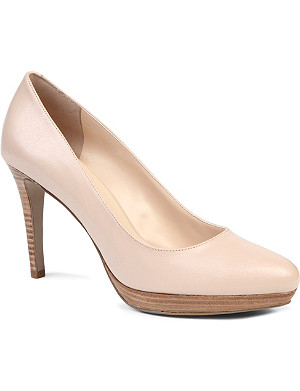 NINE WEST Beautie leather courts