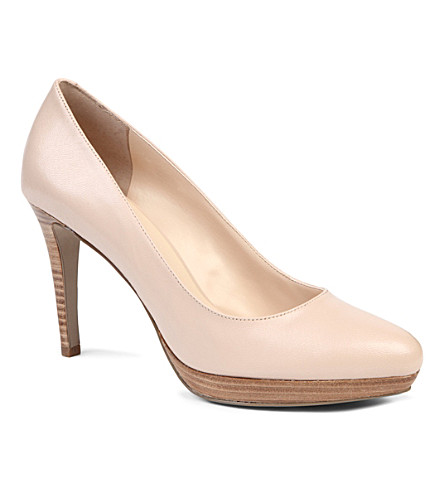 NINE WEST Beautie leather courts (Nude