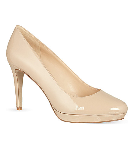 NINE WEST Beautie patent court shoes (Nude