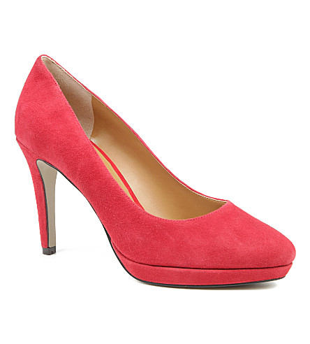NINE WEST Beautie suede courts (Red