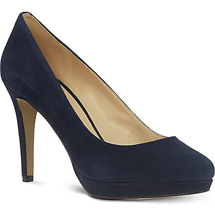 NINE WEST Beautie suede court shoes (Navy