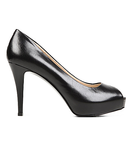 NINE WEST Camya leather courts (Black