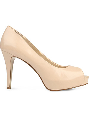 NINE WEST Camya peep-toe leather courts