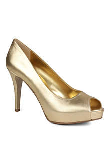 NINE WEST Camya metallic leather courts