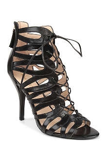 NINE WEST Kenie leather cage sandals