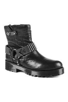 KG BY KURT GEIGER Take leather biker boots