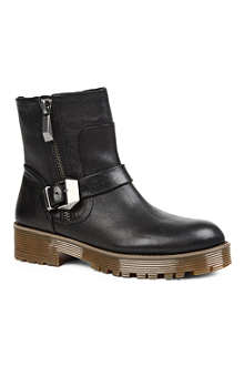 KG BY KURT GEIGER Tough leather biker boots
