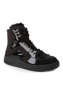 KG KURT GEIGER Lucky leather high-top trainers