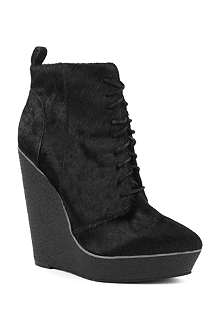 KG BY KURT GEIGER Solar pony skin and leather ankle boots