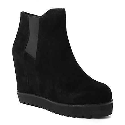 KG BY KURT GEIGER Sonar suede wedge ankle boots (Black