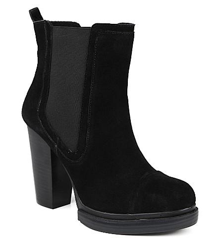 KG KURT GEIGER Shannon suede Chelsea boots (Black