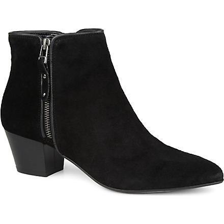 CARVELA Scatter suede boots (Black