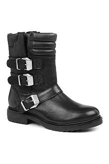 KG BY KURT GEIGER Shout leather biker boots
