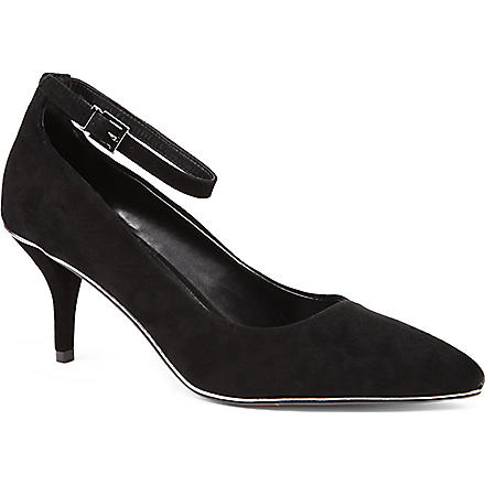 CARVELA Atom suede courts (Black