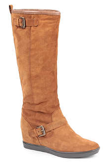 CARVELA Warm suede knee-high boots