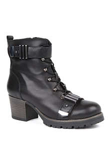 CARVELA Smooth biker boots